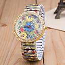 tanie Naszyjniki-Damskie Kwarcowy Zegarek na nadgarstek sztuczna Diament Stop Pasmo Kwiat Modny Wielokoloroe