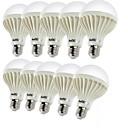 저렴한 LED 캔들 조명-YouOKLight 10pcs 3W 150-200lm E26 / E27 LED 글로브 전구 C35 12 LED 비즈 SMD 5630 장식 따뜻한 화이트 220-240V
