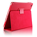 cheap iPad  Cases / Covers-Case For iPad Air 2 with Stand Auto Sleep / Wake Full Body Cases Solid Color PU Leather for iPad Air 2