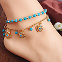 cheap Body Jewelry-Anklet - Imitation Diamond Unique Design, Tassel, Bohemian Golden For Party Daily Casual Women's