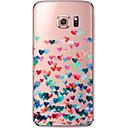 olcso Galaxy S tokok-Case Kompatibilitás Samsung Galaxy Samsung Galaxy S7 Edge Átlátszó Minta Fekete tok Szív Puha TPU mert S7 edge S7 S6 edge plus S6 edge S6
