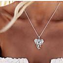 رخيصةأون قلائد-نسائي قلائد الحلي - فيل, حيوان سيدات, عتيق, موضة, نمط الشعبية جميل فضي قلادة مجوهرات من أجل مناسب للحفلات, مناسب للبس اليومي, فضفاض