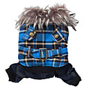cheap Car Headlights-Dog Coat Hoodie Dog Clothes Plaid / Check Yellow Green Blue Polar Fleece Cotton Costume For Winter