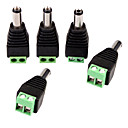 preiswerte Zubehör-Anschluss 5PCS DC Power Male Jack to 2 Conductor Screw Down Connector for LED Light Controller für Sicherheit Systeme 4*1.8*1.5cm 0.028kg