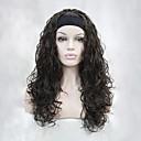 preiswerte Make-up & Nagelpflege-Synthetische Perücken Wellen Synthetische Haare Braun Perücke Damen Kappenlos Kastanienbraun