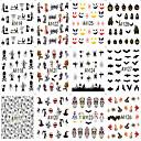 hesapli Makyaj ve Tırnak Bakımı-12 pcs Tam Tırnak Uçları Tırnak Takısı tırnak sanatı Manikür pedikür Modaya Uygun Takı / Kişiselleştirilmiş Klasik / Karikatür Günlük
