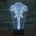 hesapli Lamba Tabanları-fil dokunmatik karartmalı 3d gece aydınlatması yol 7colorful dekorasyon atmosfer lamba yenilik aydınlatma ışık