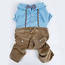 preiswerte Bekleidung & Accessoires für Hunde-Hund Overall Hundekleidung Britisch Blau / Rosa Terylen / Baumwolle Kostüm Für Haustiere Herrn / Damen Urlaub / Modisch