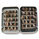 tanie Żarówki LED bi-pin-40 pcs Przynęty wędkarskie Muchy Plastik Stal węglowa Unoszący się Wędkarstwo morskie Wędkarstwo muchowe Wędkarstwo ogólne