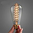 hesapli Akkor Ampuller-1pc 40 W E26 / E27 ST64 Sıcak Beyaz 2300 k Retro / Kısılabilir / ağaç Incandescent Vintage Edison Ampul 220-240 V