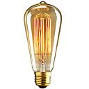 hesapli Akkor Ampuller-1pc 40W E26 / E27 ST64 Sıcak Beyaz 2300k Retro Kısılabilir Dekorotif Incandescent Vintage Edison Ampul 220-240V