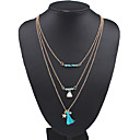 cheap Necklaces-Women's Layered Chain Necklace / Statement Necklace / Layered Necklace - Tassel, Fashion, Multi Layer Blue Necklace For Wedding, Party, Daily