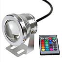 billiga Utomhuslampetter-Rgb 10w undervattenslampa vattentät säkerhetsspänning dc12v undervattensfärgade ljus v1pc