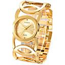 ieftine Benzi Lumină LED-Pentru femei femei Ceasuri de lux Ceas Brățară ceas de aur Quartz Oțel inoxidabil Argint / Auriu Ceas Casual Analog Atârnat Modă Elegant - Auriu Negru Argintiu Un an Durată de Viaţă Baterie