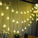 preiswerte Uhren Herren-10m Leuchtgirlanden 100 LEDs LED Diode Warmes Weiß Wasserfest / Verbindbar 1 set / IP44