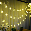 preiswerte Make-up & Nagelpflege-10m Leuchtgirlanden 100 LEDs LED Diode Warmes Weiß Wasserfest / Verbindbar 1 set / IP44