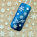 cheap Makeup & Nail Care-1pcs christmas 3d glitter nail art stickers winter manicure nails decals foil decorations tool snowflake design