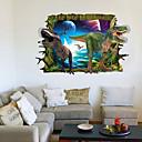 hesapli Sihirli Kartlar-Dekoratif Duvar Çıkartmaları - 3D Duvar Çıkartması Manzara / Hayvanlar / 3D Oturma Odası / Yatakodası / Çalışma Odası / Ofis