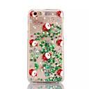 preiswerte Backzubehör & Geräte-Hülle Für Apple iPhone X / iPhone 8 / iPhone 8 Plus Mit Flüssigkeit befüllt / Durchscheinend / Muster Rückseite Weihnachten Hart PC für iPhone X / iPhone 8 Plus / iPhone 8