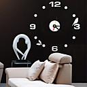 tanie zegary-Modern / Contemporary / Biuro / Biznes Domy / Rodzina / Szkoła / Graduation / Znajomi Zegar ścienny,Zaokrąglanie Akrylowy / Szkło