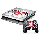 זול אביזרים ל-PS4-B-SKIN מדבקה עבור PS4 ,  מדבקה PVC 1 pcs יחידה