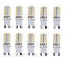Недорогие Двухконтактные LED лампы-10 шт. 150-180 lm E14 / G9 Двухштырьковые LED лампы T 64 Светодиодные бусины SMD 3014 Водонепроницаемый / Декоративная Тёплый белый / Холодный белый / Естественный белый 220-240 V / RoHs