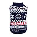 preiswerte Bekleidung & Accessoires für Hunde-Katze Hund Pullover Hundekleidung Schneeflocke Blau Acrylfasern Kostüm Für Haustiere Herrn Damen Neujahr Weihnachten