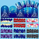 preiswerte Make-up & Nagelpflege-12 pcs Wassertransfer Aufkleber Nagel Kunst Maniküre Pediküre Modisch Alltag