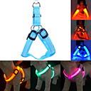 hesapli Fırın Araçları ve Gereçleri-Kedi / Köpek Koşum Takımı / Tasma Kayışı / Eğitim LED Işıklar / Ayarlanabilir / İçeri Çekilebilir Solid Naylon Mavi / Pembe / Koyu Kırmızı
