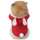 preiswerte Bekleidung & Accessoires für Hunde-Katze Hund Kostüme Kapuzenshirts Hundekleidung Solide Purpur Rot Rosa Polar-Fleece Kostüm Für Haustiere Herrn Damen Niedlich Cosplay