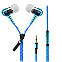 cheap Headsets & Headphones-Zipper In Ear Wired Headphones Dynamic Aluminum Alloy Mobile Phone Earphone with Microphone Headset