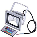 cheap Smart Lights-2200LM 85-265V /12-24V 20W Colorful RGB Infrared Remote Control Landscape Lamp