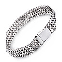 cheap Jewelry Sets-Men's Chain Bracelet - Stainless Steel Fashion Bracelet Silver For Christmas Gifts / Party / Anniversary