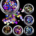 cheap Makeup & Nail Care-3g mini shining round shape mixed size nail art glitter paillette 3d nail decorations tips p01 08