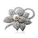 cheap Brooches-Women's Brooches - Flower Ladies, Fashion Brooch Jewelry Silver / Golden For Party / Daily / Casual