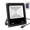 cheap Faucets-1pc 20 W LED Floodlight Waterproof / Remote Controlled / Dimmable RGB 85-265 V Outdoor Lighting / Courtyard / Garden