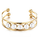 Buy Women's Cuff Bracelet Friendship Fashion Stainless Steel Imitation Pearl Jewelry Wedding Party Anniversary Birthday Gift Daily Casual
