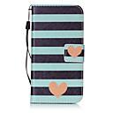 economico Custodie / cover per Galaxy serie S-Custodia Per Samsung Galaxy S7 edge / S7 A portafoglio / Porta-carte di credito / Con chiusura magnetica Integrale Con cuori Resistente pelle sintetica per S7 edge / S7 / S6 edge plus