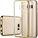 cheap Galaxy S Series Cases / Covers-Case For Samsung Galaxy Samsung Galaxy S7 Edge Plating / Transparent Back Cover Solid Colored TPU for S7 edge / S7 / S6 edge