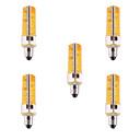 olcso LED gyertyaizzók-YWXLIGHT® 5pcs 7 W 500-700 lm E11 LED kukorica izzók T 80 LED gyöngyök SMD 5730 Tompítható / Dekoratív Meleg fehér / Hideg fehér 110-220 V / 5 db. / RoHs