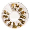 cheap Other Decorations-50pcs different shaped metal nail art decoration