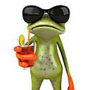 tanie Etui do iPhone-ziqiao 3d żaby wodoodporne naklejki samochodowe samochody śmieszne Gecko&motocykle kalkomanii naklejkę