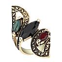 رخيصةأون ترتيب الجدران و المطبخ-نسائي خاتم عقيق يماني مكعب زركونيا ألوان متنوعة سبيكة ترف فضفاض مجوهرات