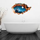 hesapli Duvar dekorasyonu-Çıkartmalar ve Bantlar Butik PVC 1pc - Banyo Diğer Banyo Aksesuarları