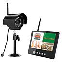 tanie Systemy CCTV-ENnio 7 cala tft cyfrowe kamery bezprzewodowe 2,4g monitoruje system 4ch quad dvr z ir night light