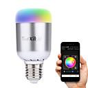 abordables Ampoules Intelligentes LED-YouOKLight 6W 450-500lm E26 / E27 Ampoules LED Intelligentes A60(A19) 16 Perles LED LED Haute Puissance Bluetooth Décorative Blanc Chaud