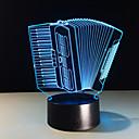 저렴한 LED 캔들 조명-1개 3D 야간 조명 컴팩트 사이즈 / 색상-변화 예술적 / 모던 / 콘템포라리