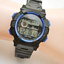 billige Herreure-Sportsur Digital Watch Quartz Digital Læder Sort Kalender Selvlysende i mørke Digital Gul Rød Blå
