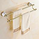 hesapli Banyo Gereçleri-Havlu Çubuğu Antik Pirinç 1 parça - Otel banyo 2 kulplu çubuk