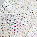 hesapli Makyaj ve Tırnak Bakımı-77 pcs Su Transferi Sticker tırnak sanatı Manikür pedikür Moda Günlük